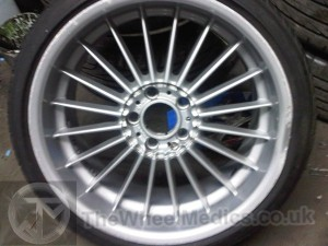 001. BMW Alpina 20'' Alloy. Buckled and Bent on face