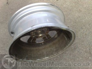001. BMW Buckled & Bent Alloy Repairs. Before Alloy Wheel Straightening