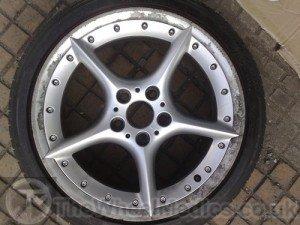 001. Before Full Alloy Wheel Refurbishment. Corrosion on polished lip.