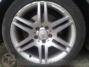001. Mercedes AMG Diamond Cut wheel- Before Powder Coating