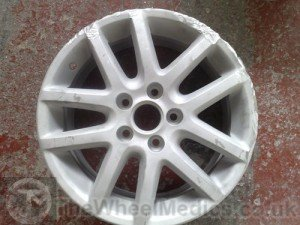 001. VW Alloy Wheel Welding Repair. Acid-Dipped & Sandblasted, Ready for Welding
