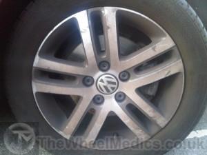 001. VW Golf. Before Powder Coating & Diamond Cutting