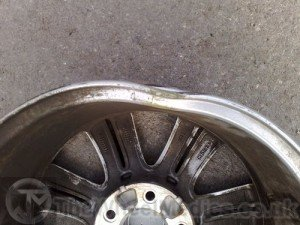 002. BMW Buckled & Bent Alloy Repairs. Before Alloy Wheel Straightening