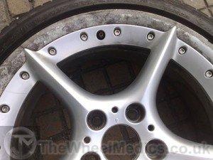 002. Before Full Alloy Wheel Refurbishment. Corrosion on polished lip.