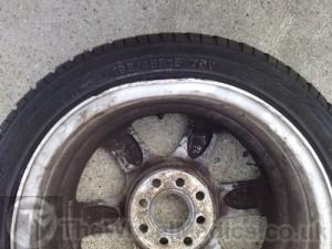 002. Toyota Buckled & Bent Alloy Wheel. Before Repair- Straightening wheel
