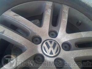 002. VW Golf. Before Powder Coating & Diamond Cutting