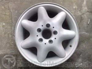 003. Alloy Wheel Sandblasted inside and out. To remove all paint & corrosion.
