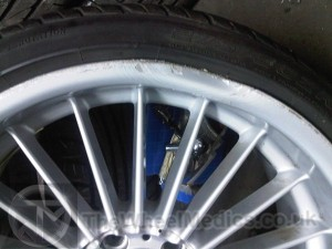 003. BMW Alpina 20'' Alloy. Buckled and Bent on face