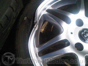 003. Front Wheel needs Straightening and Welding Repair. to Rebuild the edge