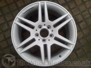 003. Mercedes AMG wheel Acid Dipped & Sandblasted - Before Powder Coating