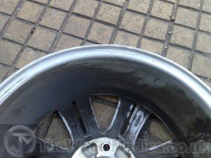 004. BMW Buckled & Bent Alloy Repairs. After Alloy Wheel Straightening