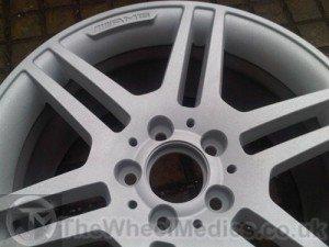 004. Mercedes AMG wheel Acid Dipped & Sandblasted - Before Powder Coating