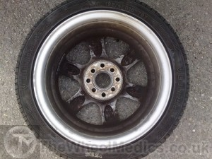 004. Toyota Buckled & Bent Alloy Wheel. After Alloy Wheel Straightening.