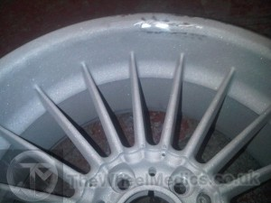 005. Stripped of paint. During Repair- Alloy Wheel Straightened.