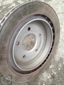 006. Corvette Brake Disks- After Cleaning. Sandblasted