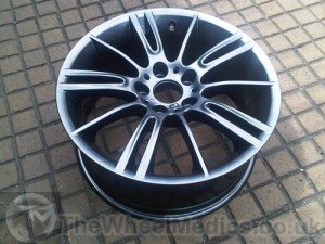 007. BMW MV3 Alloys- Powder Coated into Light Anthracite Grey