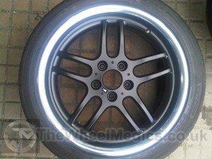 009. BMW. Satin Black with a Polished Lip