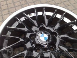 013. BMW MV1 Cus tomised-Black Gloss with Sprayed on Hyper-Silver Polished lip.
