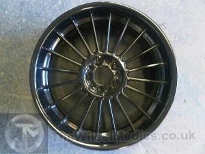 015. Alpina Wheels- Customised. Fully Powder Coated in Black Gloss