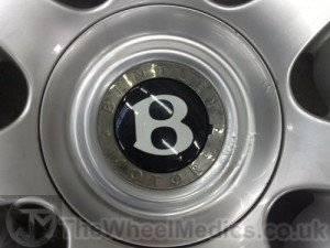 015. Bentley Continental Split Rim-Corrosion on Centre Cap. Before Refurbishment