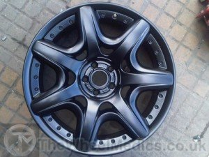 018. Bentley Continental Split Rim. Fully Refurbished- Powder Coated (Satin Matt Black).
