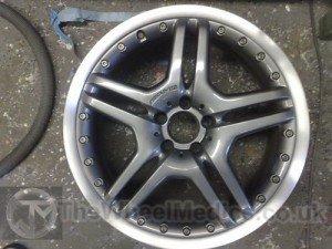 027. Mercedes AMG Split Rims. Fully Refurbished & Customised. Gun Metal Grey Centre & Polished Lip.