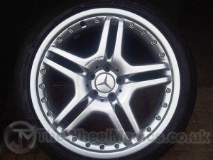028. AMG Split Rim's piece's all separately Powder Coated (Hyper-Silver) & put back together again.